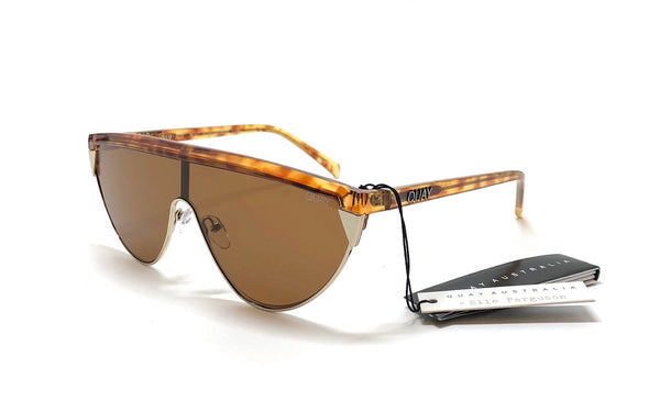 QUAY AUSTRALIA Goldie Large Shield Sunglasses