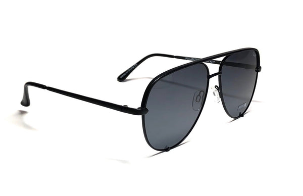 Quay Australia Polarized High Key Large Black Avaitor by Desi Perkins