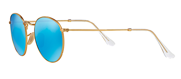 RAY BAN RB 3447 N GOLD WITH BLUE FLASH MIRROR LENS -  - Sunglasses - Sunglass Trend - 5