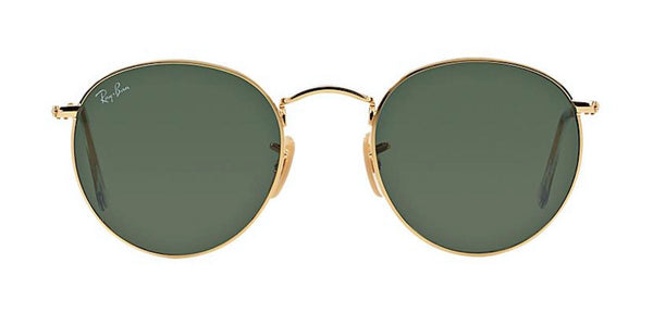 Ray-Ban Gold Metal Round Sunglasses RB 3447 001