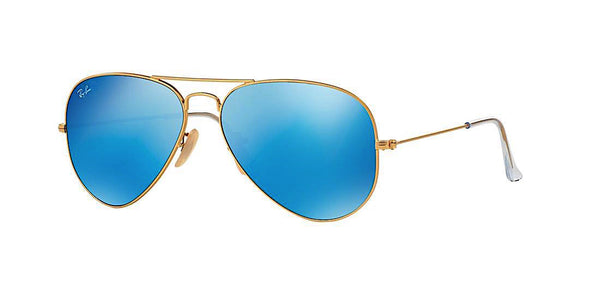RAY BAN RB 3025 112/17 GOLD WITH BLUE FLASH -  - Sunglasses - Sunglass Trend - 1