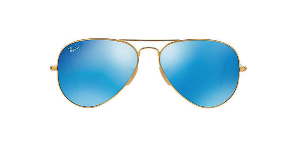 RAY BAN RB 3025 112/17 GOLD WITH BLUE FLASH -  - Sunglasses - Sunglass Trend - 2
