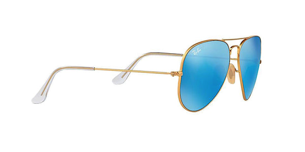 RAY BAN RB 3025 112/17 GOLD WITH BLUE FLASH -  - Sunglasses - Sunglass Trend - 3