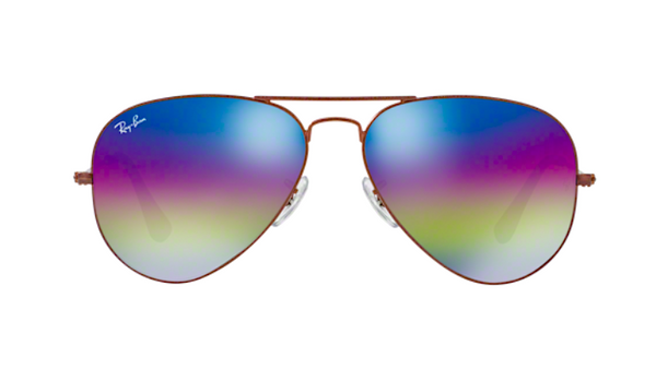 RAY BAN RB 3025 90192C PURPLE RAINBOW FLASH MIRROR LENS -  - Sunglasses - Sunglass Trend - 2