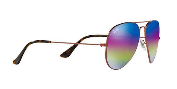 RAY BAN RB 3025 90192C PURPLE RAINBOW FLASH MIRROR LENS -  - Sunglasses - Sunglass Trend - 4