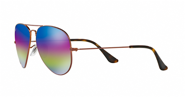 RAY BAN RB 3025 90192C PURPLE RAINBOW FLASH MIRROR LENS -  - Sunglasses - Sunglass Trend - 5