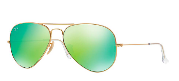 RAY BAN  RB 3025 GOLD WITH GREEN MIRROR LENS -  - Sunglasses - Sunglass Trend - 1