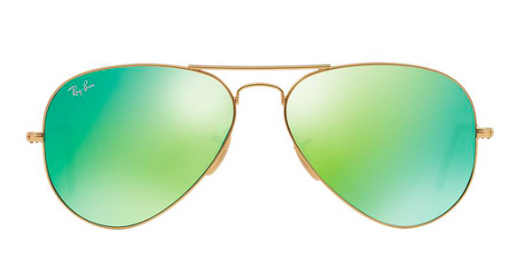 RAY BAN  RB 3025 GOLD WITH GREEN MIRROR LENS -  - Sunglasses - Sunglass Trend - 2