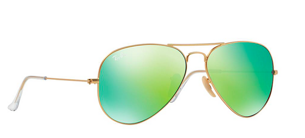 RAY BAN  RB 3025 GOLD WITH GREEN MIRROR LENS -  - Sunglasses - Sunglass Trend - 3