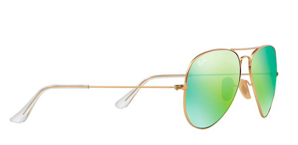 RAY BAN  RB 3025 GOLD WITH GREEN MIRROR LENS -  - Sunglasses - Sunglass Trend - 4
