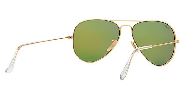RAY BAN  RB 3025 GOLD WITH GREEN MIRROR LENS -  - Sunglasses - Sunglass Trend - 6