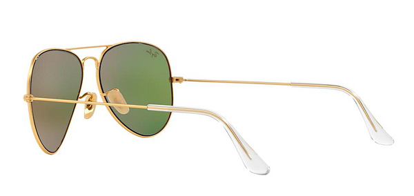 RAY BAN  RB 3025 GOLD WITH GREEN MIRROR LENS -  - Sunglasses - Sunglass Trend - 7