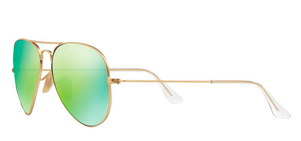 RAY BAN  RB 3025 GOLD WITH GREEN MIRROR LENS -  - Sunglasses - Sunglass Trend - 5