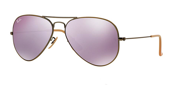 RAY BAN RB 3025 BRONZE WITH LILAC MIRROR LENS -  - Sunglasses - Sunglass Trend - 1