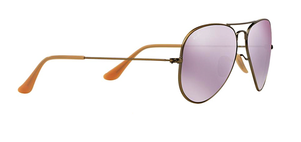 RAY BAN RB 3025 BRONZE WITH LILAC MIRROR LENS -  - Sunglasses - Sunglass Trend - 4