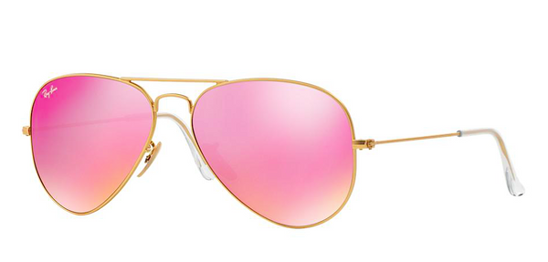 RAY BAN RB 3025 GOLD WITH PINK MIRROR LENS -  - Sunglasses - Sunglass Trend - 1
