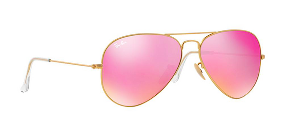RAY BAN RB 3025 GOLD WITH PINK MIRROR LENS -  - Sunglasses - Sunglass Trend - 3