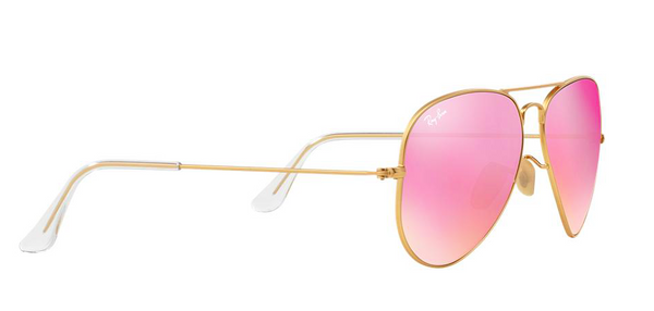 RAY BAN RB 3025 GOLD WITH PINK MIRROR LENS -  - Sunglasses - Sunglass Trend - 4