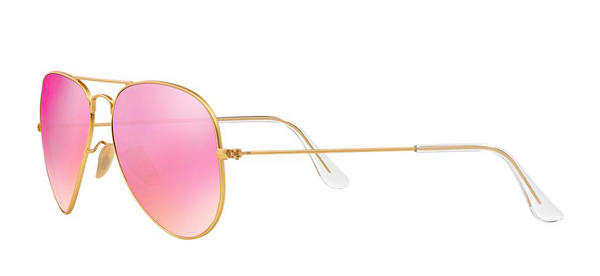 RAY BAN RB 3025 GOLD WITH PINK MIRROR LENS -  - Sunglasses - Sunglass Trend - 5