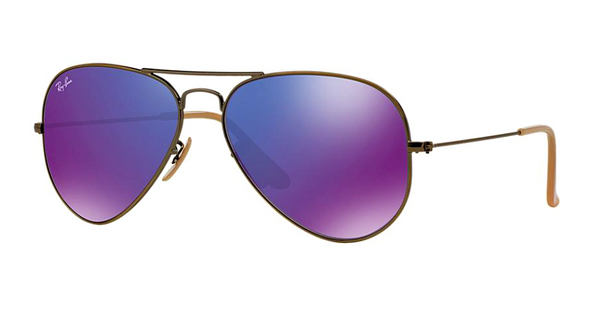 RAY BAN RB 3025 BRONZE WITH PURPLE MIRROR LENS -  - Sunglasses - Sunglass Trend - 1