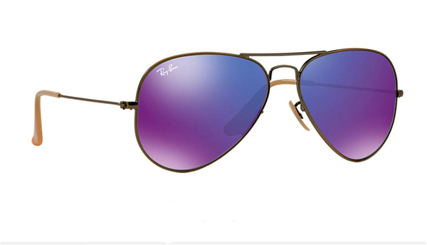 RAY BAN RB 3025 BRONZE WITH PURPLE MIRROR LENS -  - Sunglasses - Sunglass Trend - 3