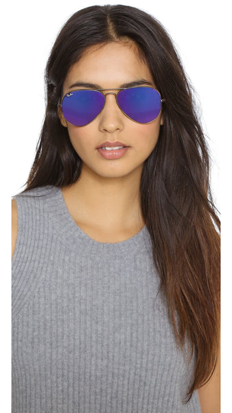 RAY BAN RB 3025 BRONZE WITH PURPLE MIRROR LENS -  - Sunglasses - Sunglass Trend - 7