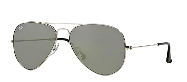RAY BAN RB 3025 SILVER WITH SILVER MIRROR LENS