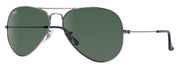 RAY BAN RB 3025 W0879 GUNMETAL WITH CRYSTAL GREEN LENSES -  - Sunglasses - Sunglass Trend - 1