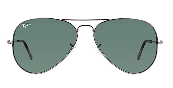 RAY BAN RB 3025 W0879 GUNMETAL WITH CRYSTAL GREEN LENSES -  - Sunglasses - Sunglass Trend - 2