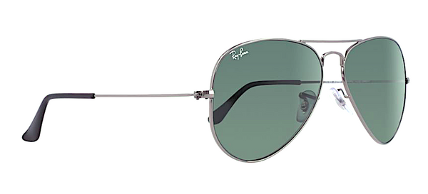 RAY BAN RB 3025 W0879 GUNMETAL WITH CRYSTAL GREEN LENSES -  - Sunglasses - Sunglass Trend - 3