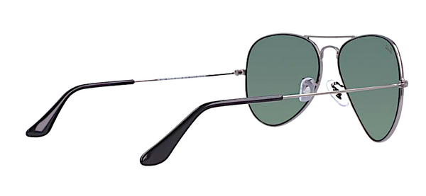 RAY BAN RB 3025 W0879 GUNMETAL WITH CRYSTAL GREEN LENSES -  - Sunglasses - Sunglass Trend - 5