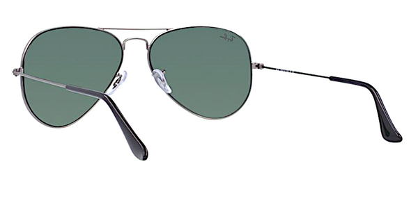 RAY BAN RB 3025 W0879 GUNMETAL WITH CRYSTAL GREEN LENSES -  - Sunglasses - Sunglass Trend - 6
