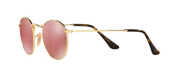 RAY-BAN RB 3447N 112/Z2 Gold With Pink Mirrored Lenses