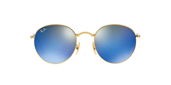 RAY BAN RB 3532 001/68 FOLDABLE GOLD WITH BLUE FLASH -  - Sunglasses - Sunglass Trend - 2