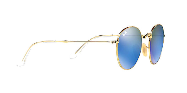 RAY BAN RB 3532 001/68 FOLDABLE GOLD WITH BLUE FLASH -  - Sunglasses - Sunglass Trend - 3