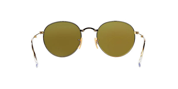RAY BAN RB 3532 001/68 FOLDABLE GOLD WITH BLUE FLASH -  - Sunglasses - Sunglass Trend - 6