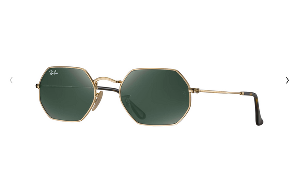 RB 3556N 001 - Gold Metal Ray Ban Octagon Sunglasses