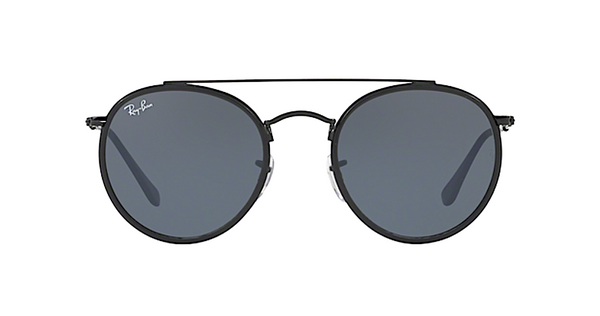 RAY-BAN RB 3647 N 002/R5 Black Double Bar Round Sunglasses