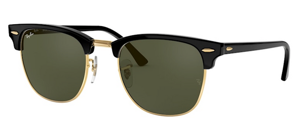 Ray-Ban Original Black and Gold Clubmaster RB 3016 W0365