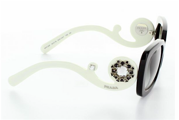 PRADA ORNATE JEWELED BAROQUE PR 33PS 2AX0A7 -  - Sunglasses - Sunglass Trend - 6