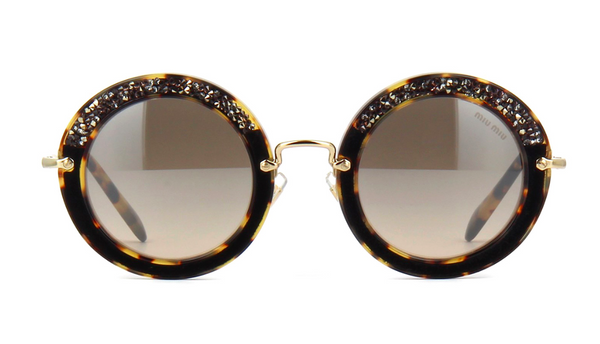 MIU MIU Limited Edition MU 08RS Light Havana with Hand Set Crystals -  - Sunglasses - Sunglass Trend - 2