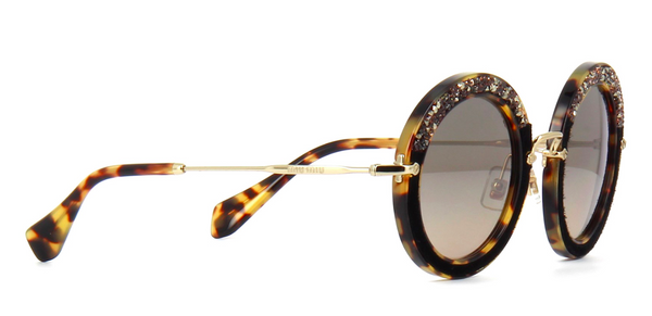 MIU MIU Limited Edition MU 08RS Light Havana with Hand Set Crystals -  - Sunglasses - Sunglass Trend - 4