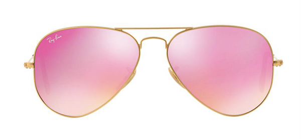 RAY-BAN Gold Aviator RB 3025 112/4T Pink Mirror Lens