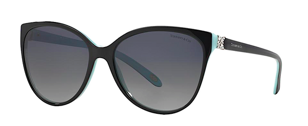 TIFFANY & Co. TF 4089B 80553C | BLACK AND TIFFANY BLUE -  - Sunglasses - Sunglass Trend - 1