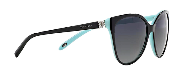 TIFFANY & Co. TF 4089B 80553C | BLACK AND TIFFANY BLUE -  - Sunglasses - Sunglass Trend - 3