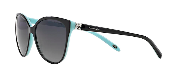 TIFFANY & Co. TF 4089B 80553C | BLACK AND TIFFANY BLUE -  - Sunglasses - Sunglass Trend - 5
