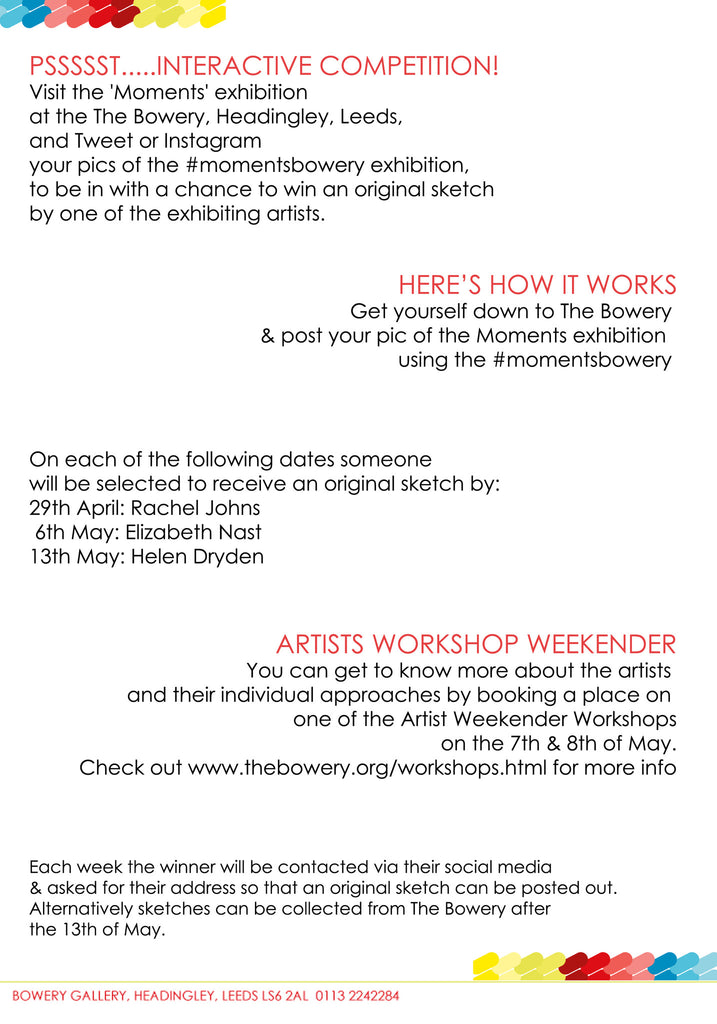 Psssst...... your chance to win some original artwork!
