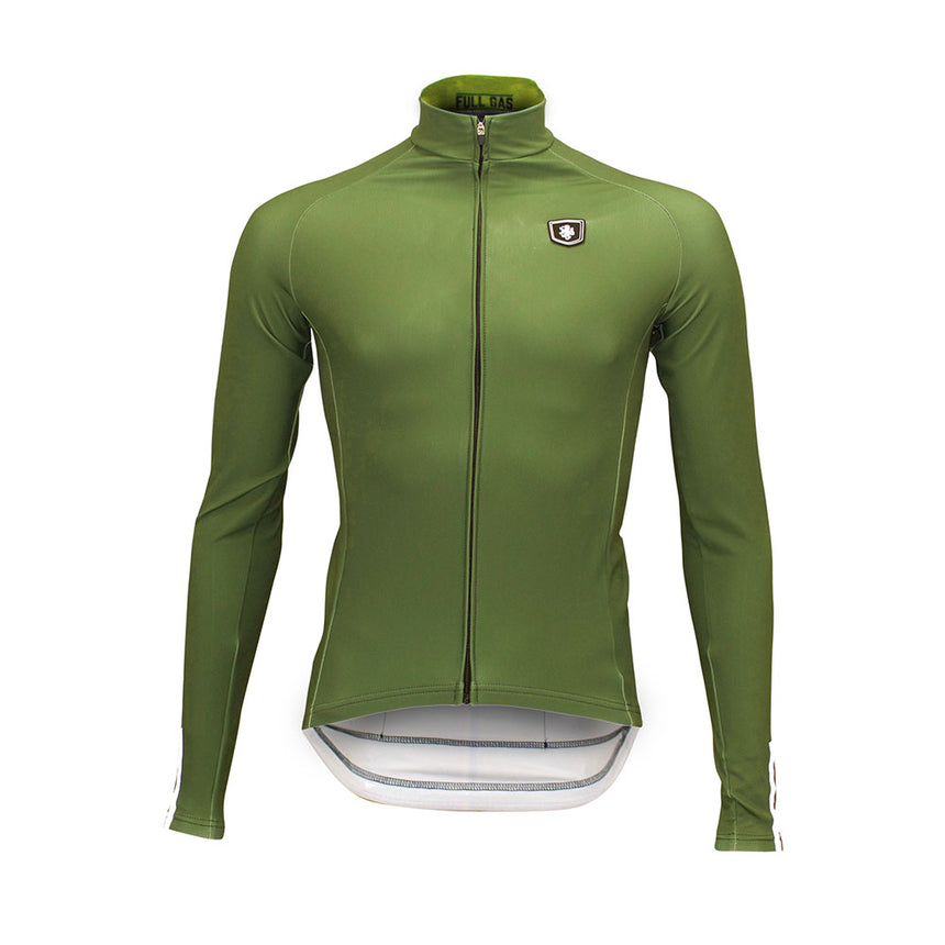 'Boom' Pro Thermal Jersey (Olive Green)