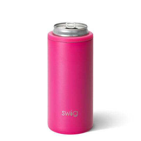 Swig Skinny Can Cooler in Matte Pink
