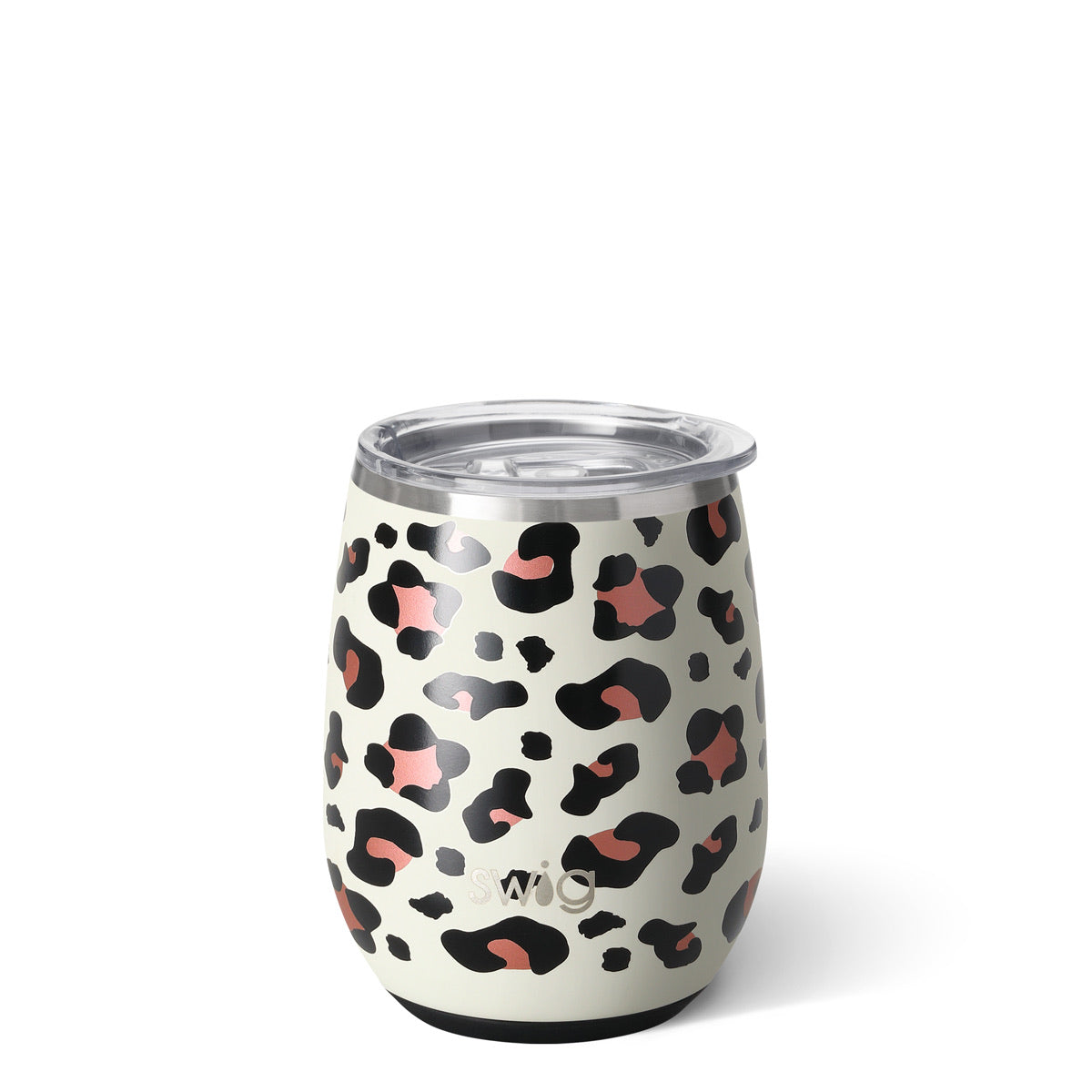 Swig Luxury Leopard Stemless Wine Glass